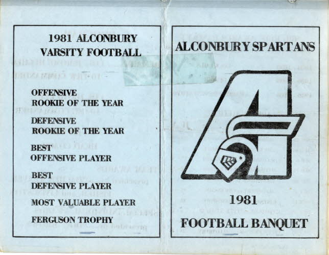Alc Football Banquet 1981