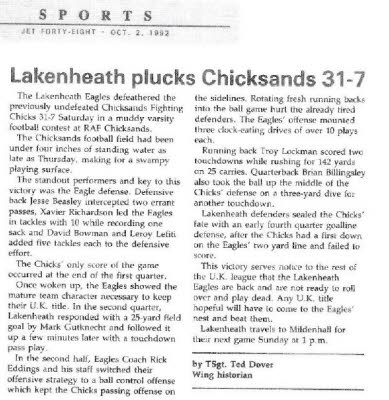 Lakenheath Plucks Chicks