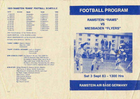 Ramstein program 3 Sep 83 Fornt and Back